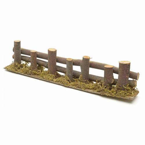 Nativity setting, fence with logs 33x4,5cm s2