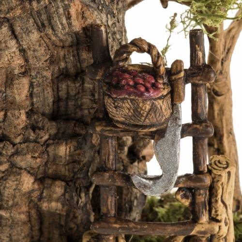 Nativity setting with fruit, ladder and hatchet s4