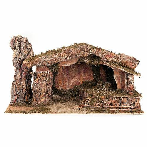 Nativity stable moss and cork, electical s1