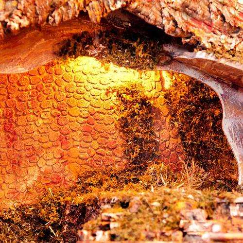 Nativity stable moss and cork, electical s2