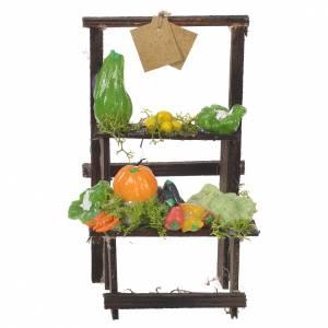 Miniature food: Nativity stall, fruit seller in wax 13.5x8x5.5cm