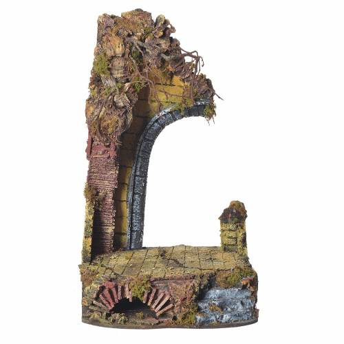 Nativity temple with arch measuring 20x20x40cm s1