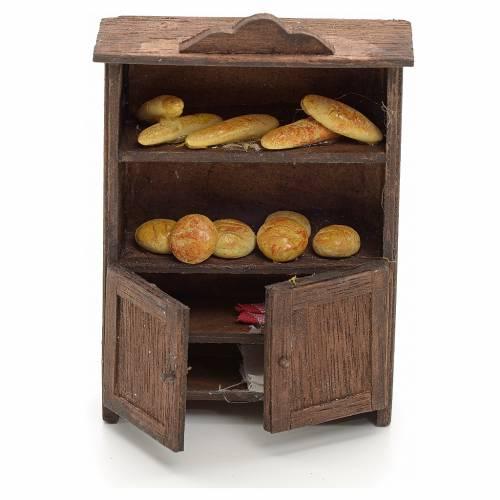 Neapolitan nativity accessory, bread display 10cm s1
