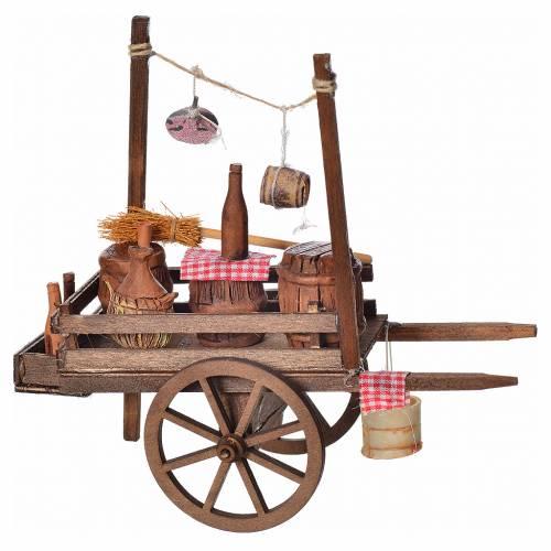 Neapolitan nativity accessory, fireworks terracotta cart 15x18x8 s2