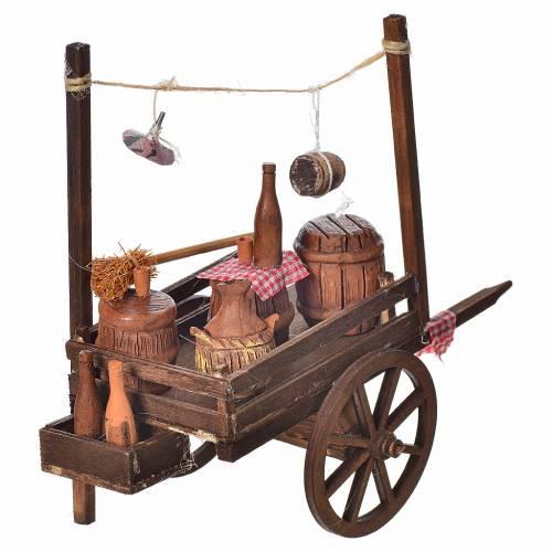 Neapolitan nativity accessory, fireworks terracotta cart 15x18x8 s3