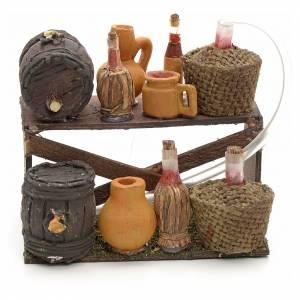 Neapolitan nativity accessory, wine stall 12cm s1