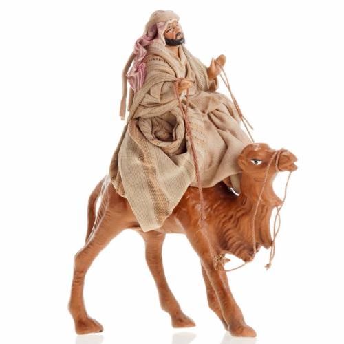 Neapolitan Nativity figurine, Arabian on camel 8cm s1