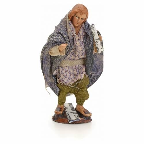 Neapolitan Nativity figurine, beggar with paper, 8 cm s1