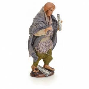 Neapolitan Nativity figurine, beggar with paper, 8 cm s2