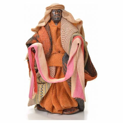 Neapolitan Nativity figurine, cloth seller, 6 cm s1