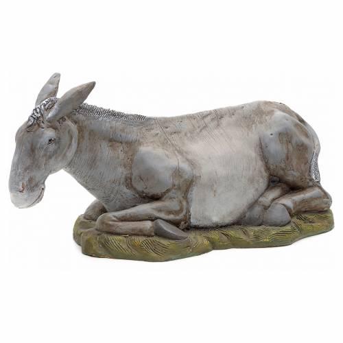 Neapolitan Nativity figurine, donkey, 45 cm s1