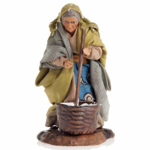 Neapolitan nativity figurine, female cheese maker 8cm s1