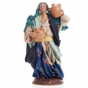 Neapolitan nativity figurine, female water carrier 18cm s1