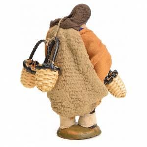 Neapolitan Nativity figurine, man carrying baskets, 10 cm s3