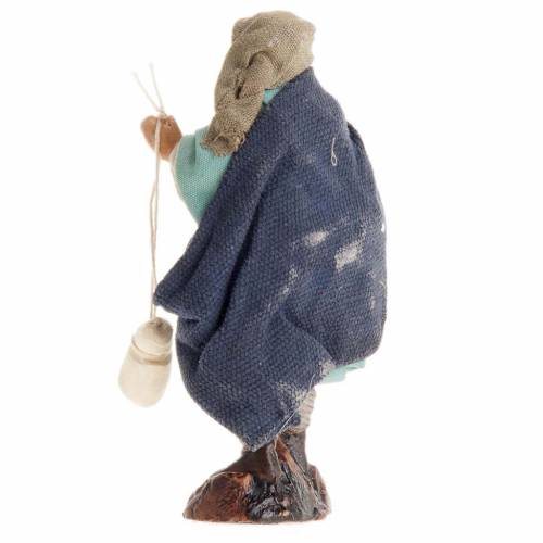 Neapolitan Nativity figurine, Man with cheese 8cm s2
