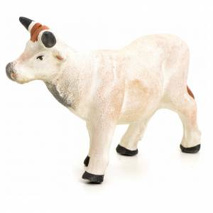 Neapolitan nativity figurine, standing cow, 8cm s1