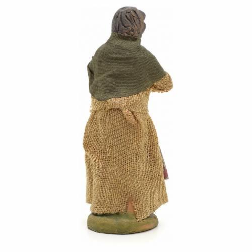Neapolitan Nativity figurine, woman on the balcony , 10 cm s2