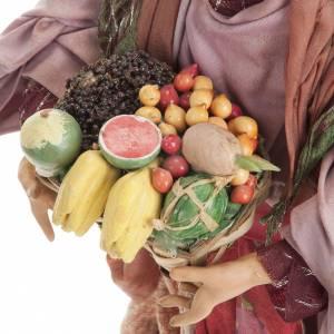 Neapolitan nativity figurine, woman with fruit basket 30cm s4
