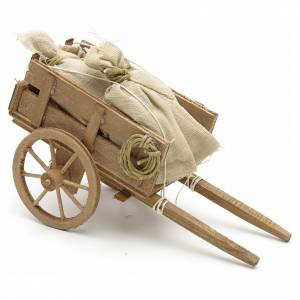Neapolitan Nativity Scene: Neapolitan Nativity scene accessory, cart with sacks