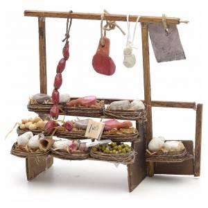 Neapolitan Nativity scene accessory, meat stall s1