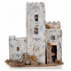 Neapolitan Nativity scene accessory, Palestinian house 30cm tall s1