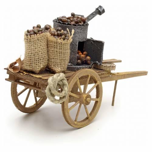 Neapolitan Nativity scene accessory, roasted chestnuts cart s4