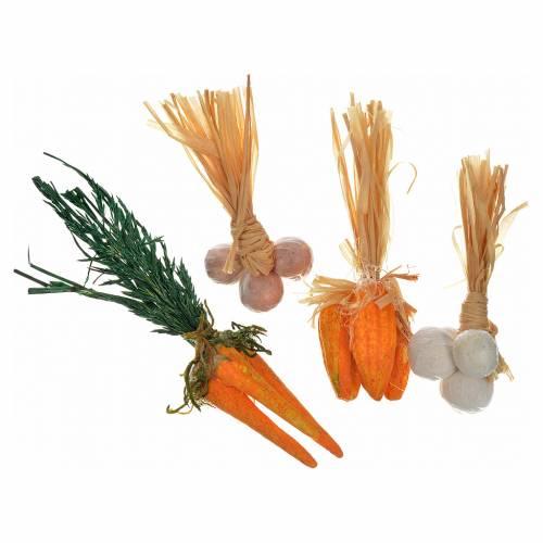 Neapolitan Nativity scene accessory, terracotta vegetables, 4 pi s1