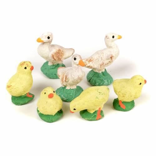 Neapolitan Nativity scene figurine, 4 chicks 3 ducklings 8 cm s2