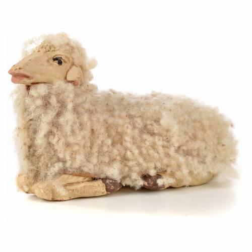 Neapolitan Nativity scene figurine, kit, 3 sheep with wool 14 cm s4
