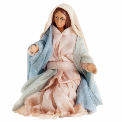 Neapolitan Nativity set, Holy family 8cm s4
