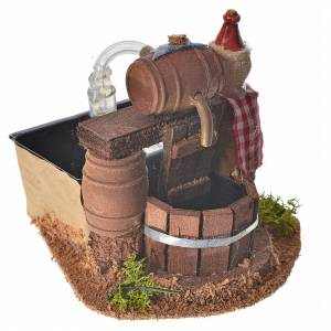 Neapolitan nativity setting, cellar with cask and water pump 8x1 s2
