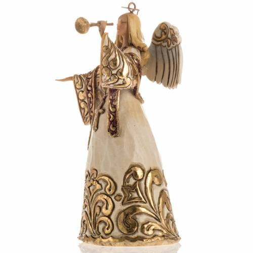 Ángel con la trompeta de Jim Shore (Ivory and Gold Angel) s3