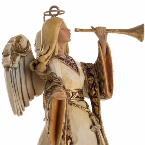 Ángel con la trompeta de Jim Shore (Ivory and Gold Angel) s2