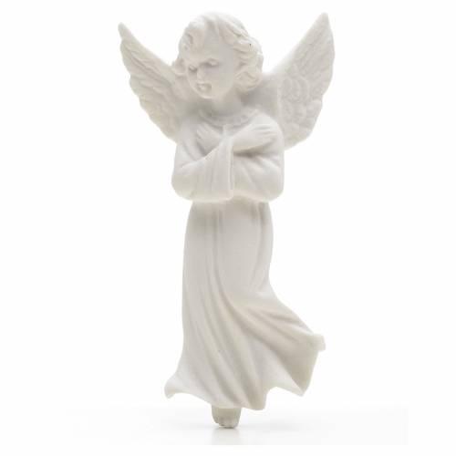 Ángel con manos cruzadas, 11 cm de mármol s1