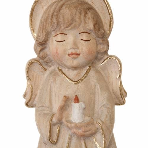 Ángel con vela y vestido rosa s2