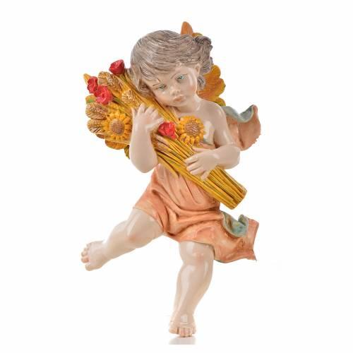 Ángel del verano con trigo Fontanini cm. 17 símil porcelana s1