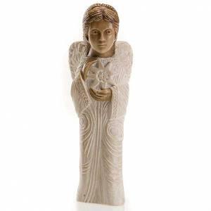 Pesebre Monasterio de Belén: Ángel para Pesebre de Otoño pintado blanco
