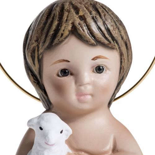 Niño Jesús con cordero  de yeso 20cm s4