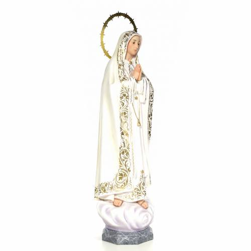 Notre Dame de Fatima 100 cm pâte à bois s4