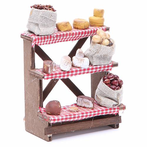 Nuts and olives stall for Neapolitan Nativity measuring 16x12x10cm s3