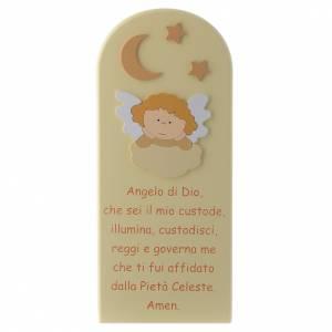 Azur Loppiano: Obrazek Aniele Boży z Aniołem drewno beżowy 30x10 cm