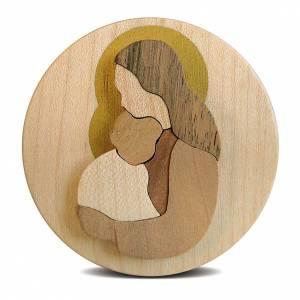 Azur Loppiano: Obrazek na drewnie Madonna z Dzieciątkiem okrągły