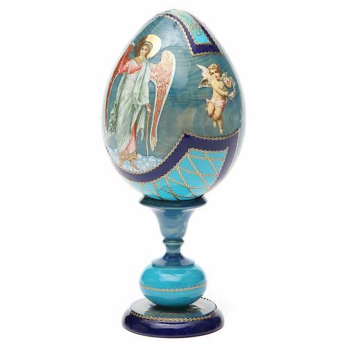 Oeuf découpage russe Ange Gardien h 20 cm style Fabergé s2