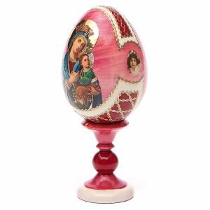 Oeuf russe découpage Perpétuel Secours h 13 cm style Fabergé s2
