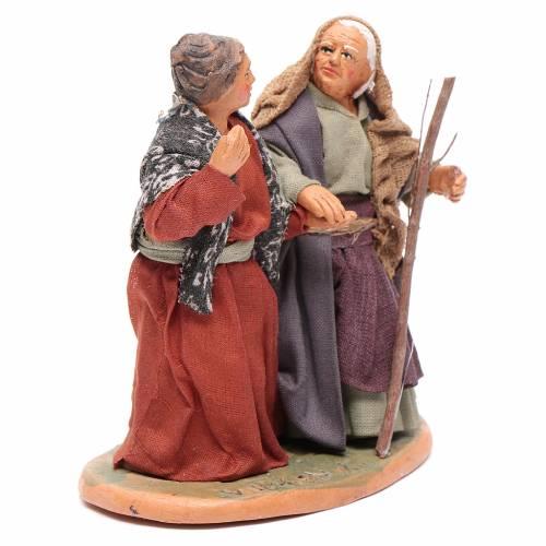 Old ladies holding hands, Neapolitan Nativity 10cm s4