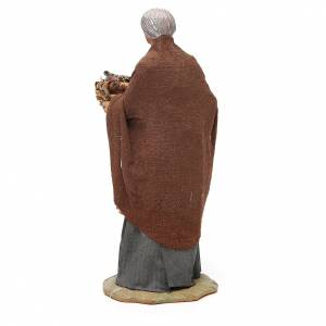 Old lady with fruit basket and straw, Neapolitan nativity figurine 24cm s3
