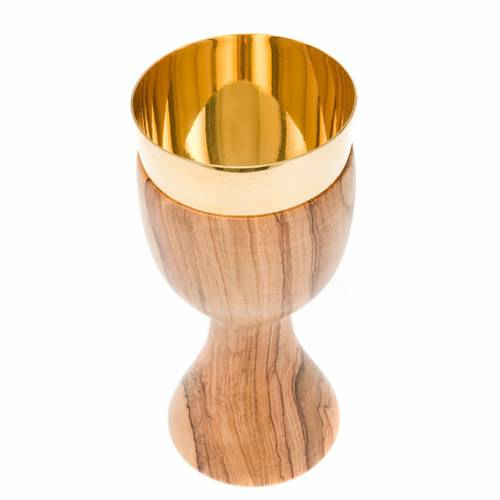 Olive wood thick edge chalice s2