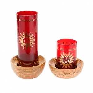 Olive wood Holy Blessed candle-holder s4