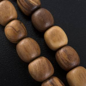 Rosaries and rosary holders: Olive wood rosary with Saint Benedict medal
