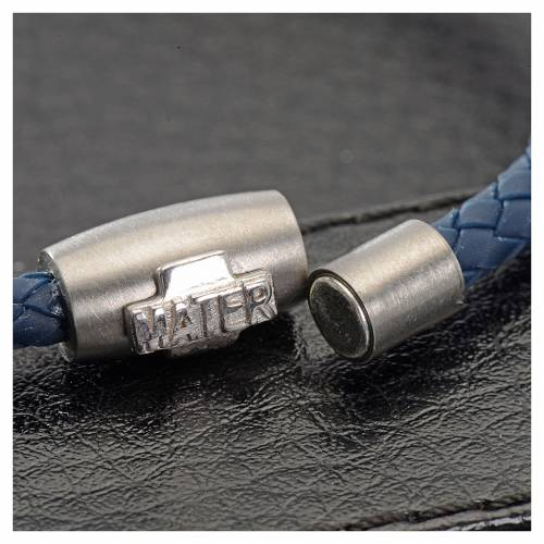 One decade bracelet in silver and blue leather, MATER jewels s2